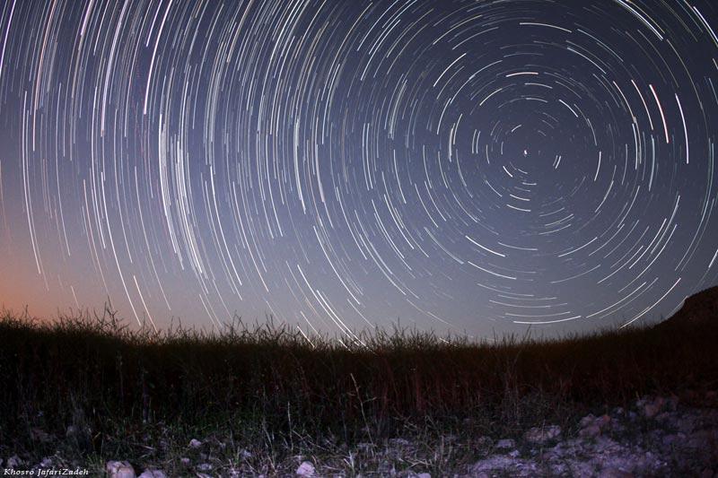 Star Trails in Andeka-Khuzestan
