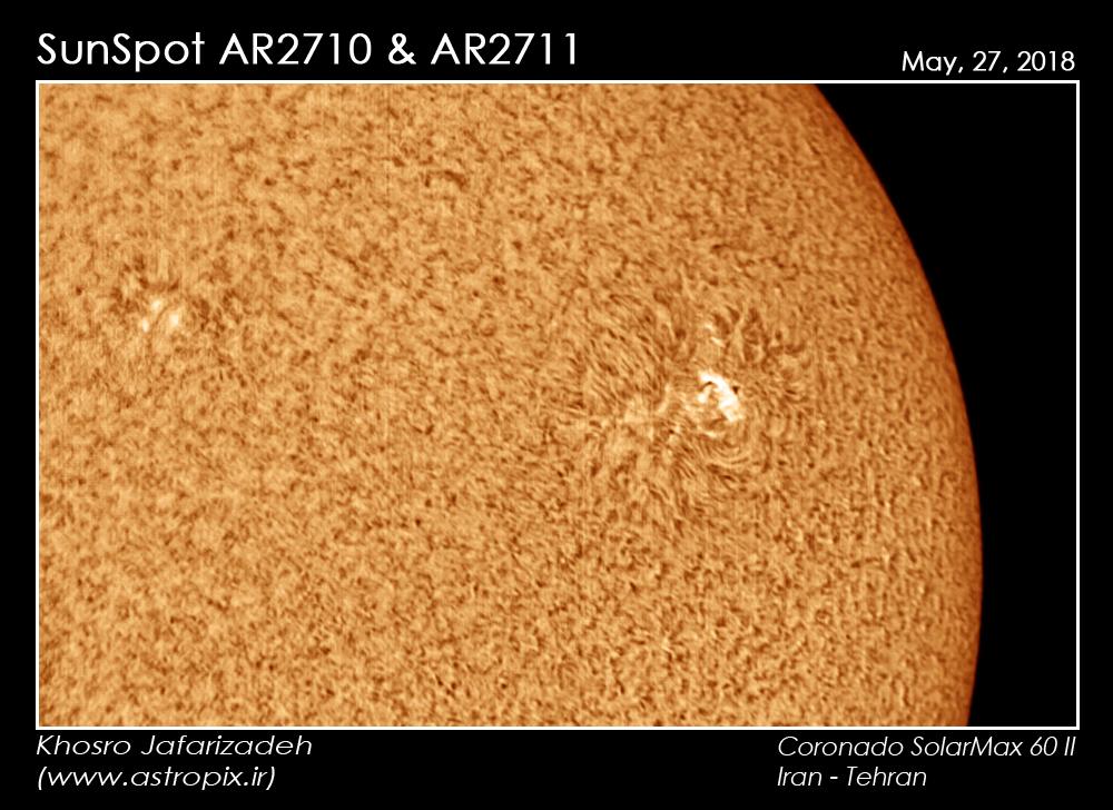 [عکس: SunSpot-AR2710-AR2711-khosro-jafarizadeh.jpg]
